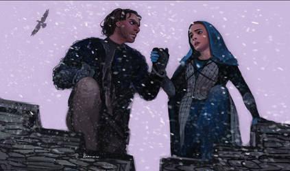 Escape from Winterfell by Elekmonar
