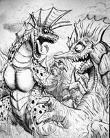 KAIJU BATTLE : Titanosaurus Vs. Maga Jappa  by Erickzilla