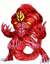 GIOLON : The Red Shapeshifting Invader by Erickzilla