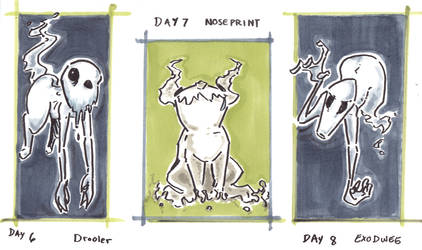30characters days 6-8 ghostly trio by not-fun