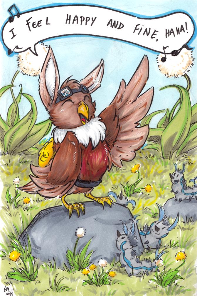 a happy bunnybird by not-fun