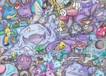 Generation #1 Poison Pokemon by not-fun