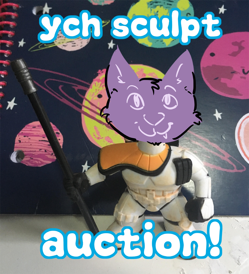 YCH star wars sculpture auction by not-fun