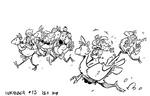Inktober 13- riding chocobos