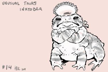 Inktober of Unusual Taurs #14 - toad