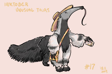 Inktober of Unusual Taurs #17 - giant anteater