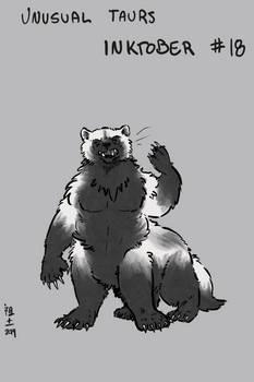 Inktober of Unusual Taurs #18 - wolverine