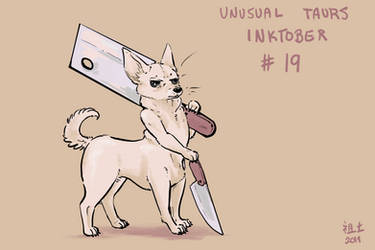 Inktober of Unusual Taurs #18 - chihuahua