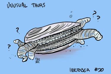 Inktober of Unusual Taurs #20 - clam