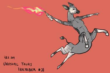 Inktober of Unusual Taurs #21- okapi