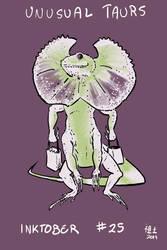 Inktober of Unusual Taurs #25 - frilled lizard