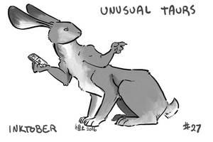 Inktober of Unusual Taurs #27 - hare