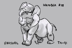 Inktober of Unusual Taurs #28 - elephant