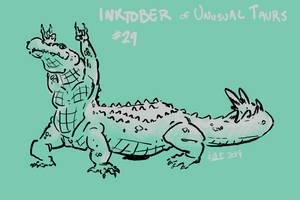 Inktober of Unusual Taurs #29 - alligator