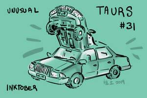 Inktober of Unusual Taurs #31 - car