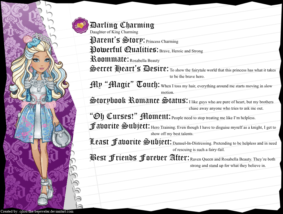 Ever after high dress up darling charming images