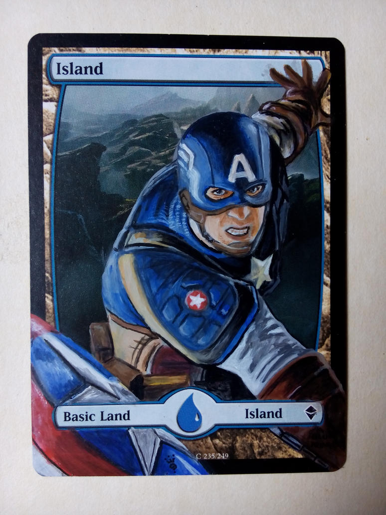 COMMISSION: Captain America on MTG card by blueprince312