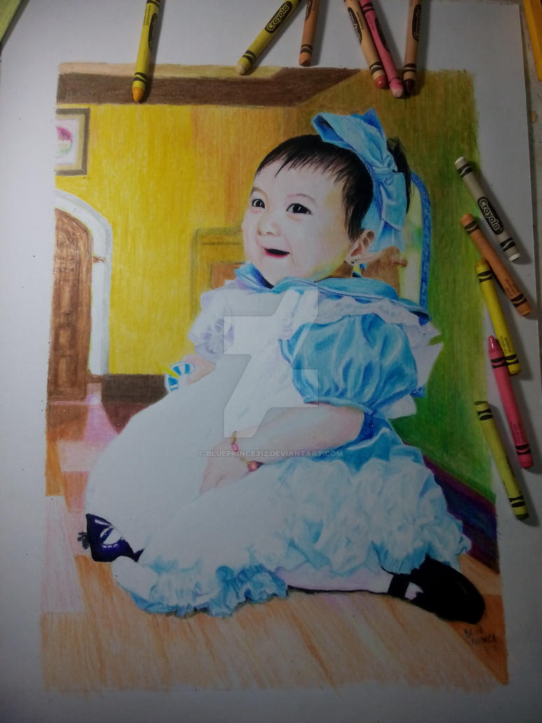 COMMISSION: Baby Alice (Crayon art) by blueprince312
