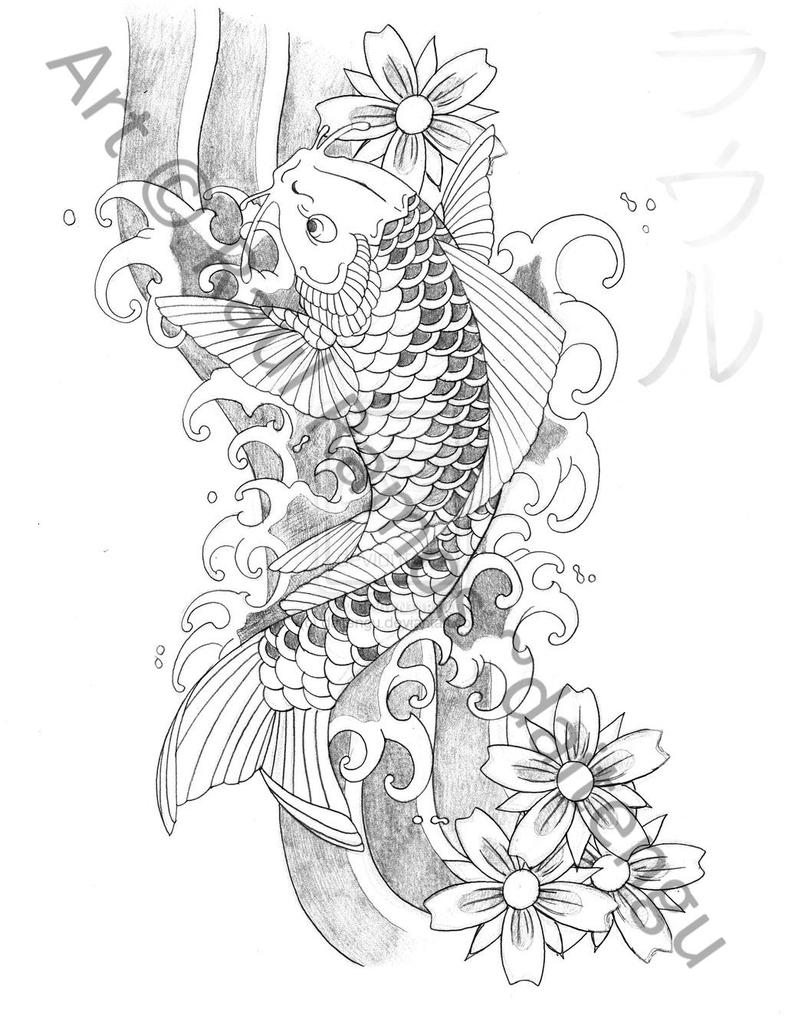 Japanese Koi Fish Tattoo Designs Gallery 26