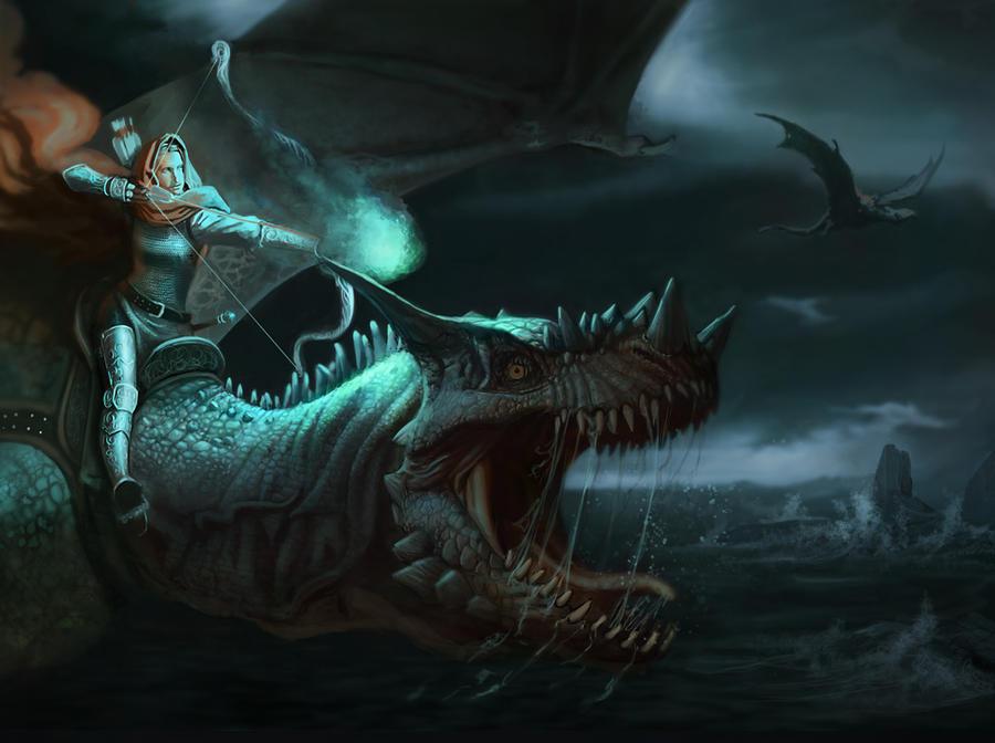 Dragon Rider by daitengu