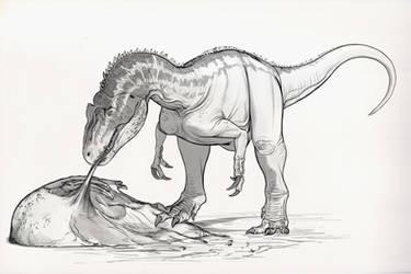 Draw Dinovember Day 3 Allosaurus