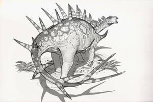 Draw Dinovember Day 4 Kentrosaurus by daitengu
