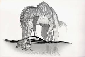 Draw Dinovember Day 7 Baryonyx by daitengu