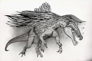 Draw Dinovember Day 13 Spinosaurus by daitengu
