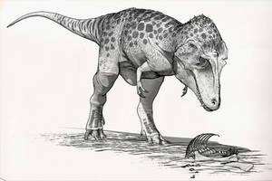 Draw Dinovember Day 15 Lythronax by daitengu