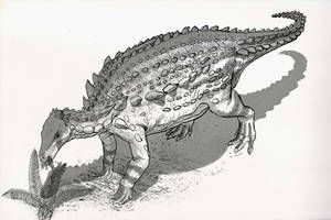 Draw Dinovember Day 19 Scelidosaurus by daitengu