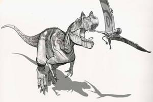 Draw Dinovember Day 26 Ceratosaurus by daitengu