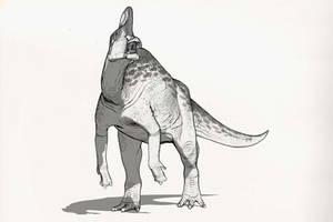 Draw Dinovember Day 27 Corythosaurus by daitengu