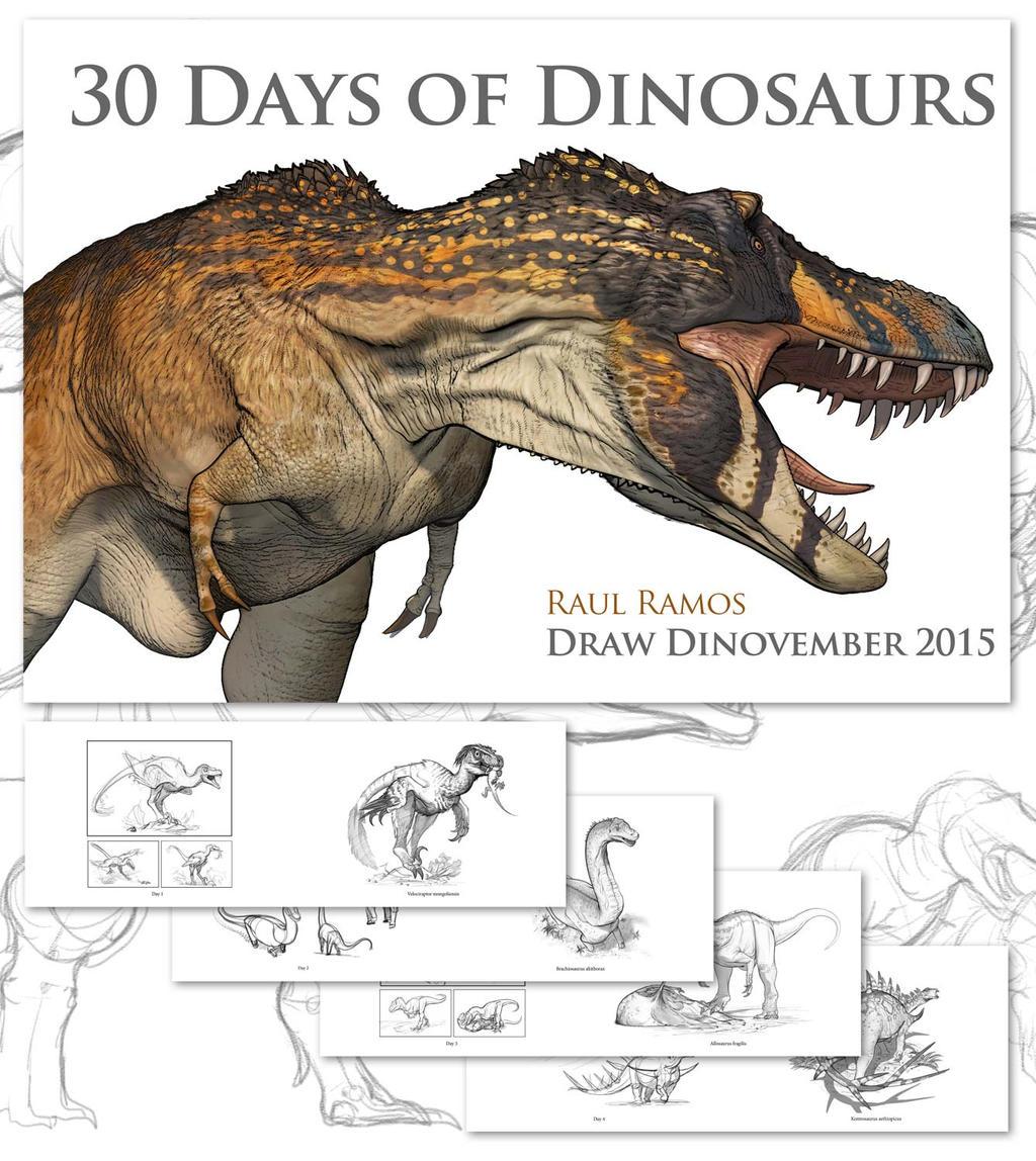 30 Days of Dinosaurs by daitengu