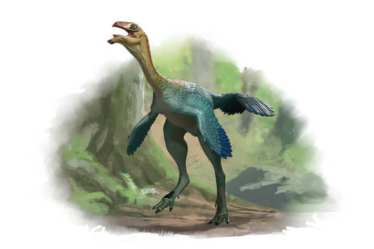 Draw Dinovember 2016 Day 11 Caudipteryx zoui