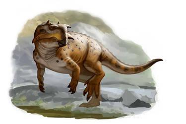 Draw Dinovember Day 12 Psittacosaurus sibiricus by daitengu