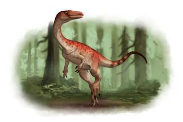 Draw Dinovember Day 21 Coelophysis by daitengu