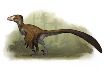 Draw Dinovember 2016 Day 24 Dakotaraptor by daitengu