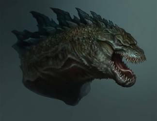 Godzilla Head Design by daitengu