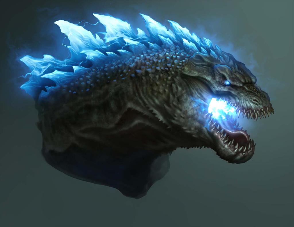 Godzilla Head Design-Atomic Breath by daitengu on DeviantArt