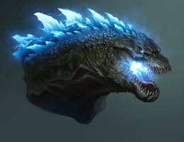 Godzilla Head Design-Atomic Breath