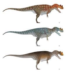 Ceratosaurus Color Concepts by daitengu