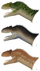Allosaurus Bust Color Concepts by daitengu