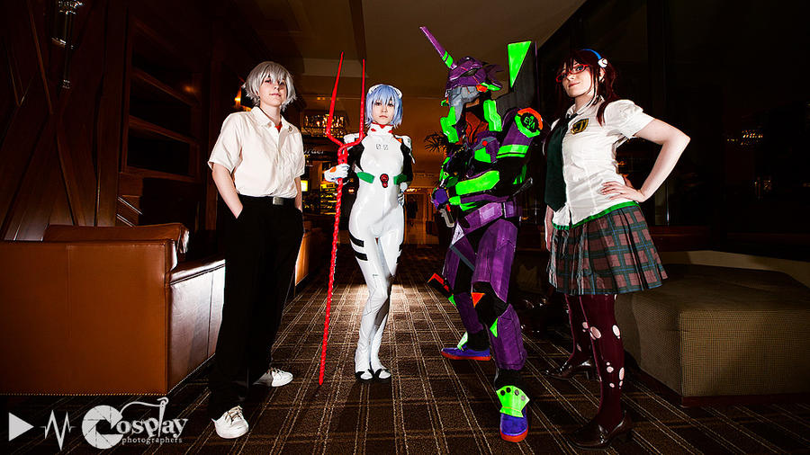 Evangelion Cosplay Group by BotticelliSandro