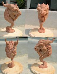 Royal Crusted Foo Dog by Kahiah