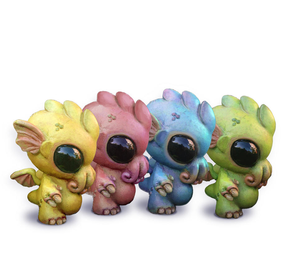 Rainbow Baby Cthulhu Set by Kahiah