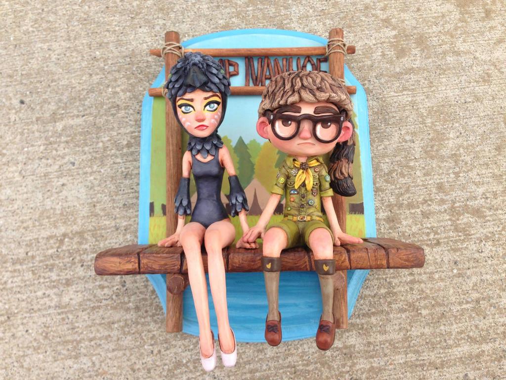 Suzy and Sam piece from Moonrise Kingdom by Kahiah