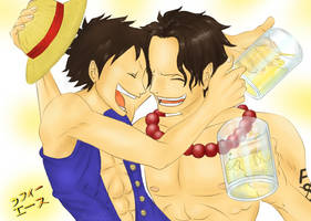 Happy Birthday Ace and Oda by JauneAnora
