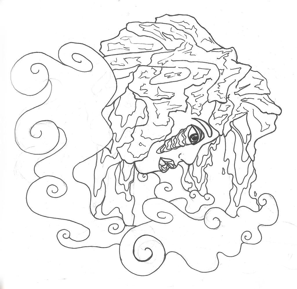 volcano sketch