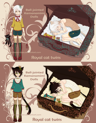 [CLOSED] Adopt BJD Kemono Doll. Royal Twins by aritsuneart