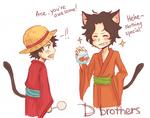 D brothers at matsuri by aritsuneart